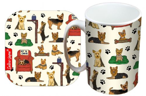 Selina-Jayne Yorkshire Terrier Limited Edition Designer Mug and Coaster Set